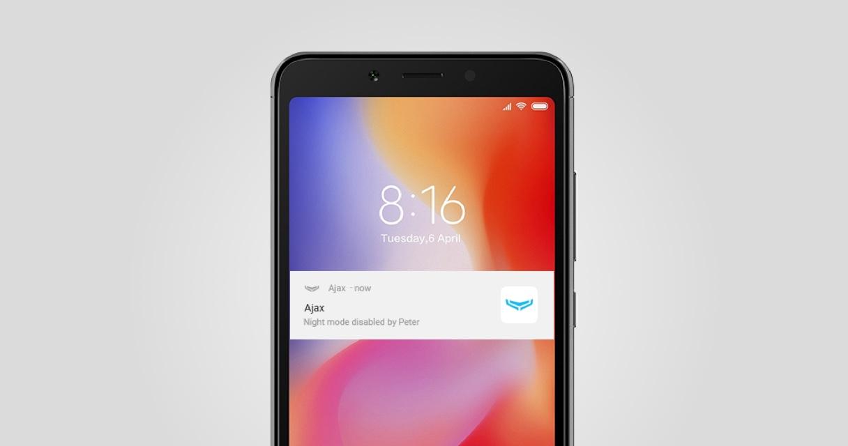 Configuració Notificacions Android Alarma Ajax | Serveis Telemàtics Palamós
